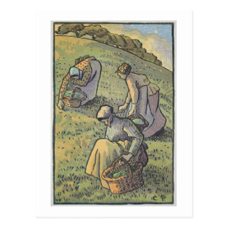 Women Gathering Mushrooms, from 'Travaux des Champ Postcard
