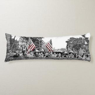 Women Girls 1910 American Flag Wide Angle Antique Body Cushion