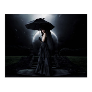 Women gothic moon postcard