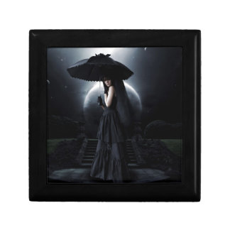 Women gothic moon small square gift box