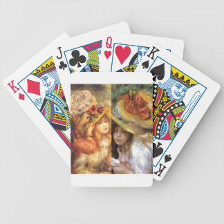 Women headwear are masterpieces in Renoir's art Bicycle Playing Cards