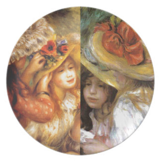 Women headwear are masterpieces in Renoir's art Plate