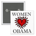 Women Heart Obama 15 Cm Square Badge