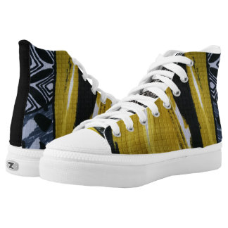 "Women High Top Sneakers ""Mysistergirl Design"""