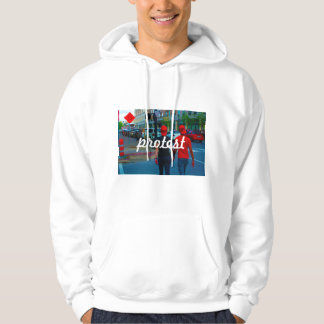 Women Holding Hands in Protest Hoodie