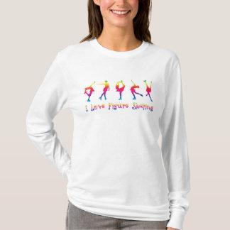 women - I love figure skating, bright colours T-Shirt
