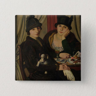 Women in a Cafe, c.1924 15 Cm Square Badge