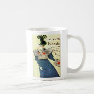 Women in Blue Dress Basic White Mug