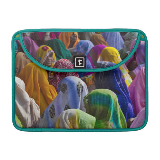 Women in colorful saris gather together MacBook pro sleeves