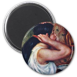Women In Haarkämmen By Pierre-Auguste Renoir (Best Magnet