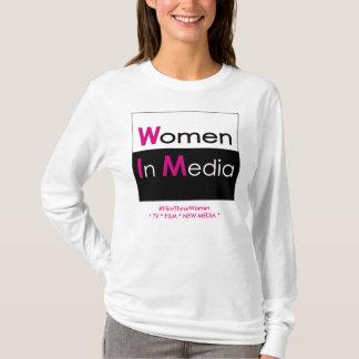 Women In Media Long Sleeve Tee Shirt White