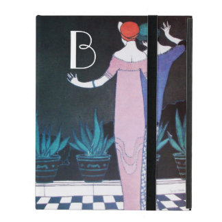 WOMEN IN NIGHT Art Deco Beauty Fashion Monogram iPad Cover