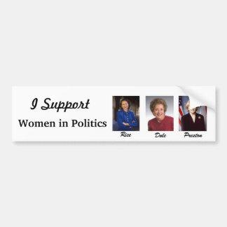 Women in Politics Car Bumper Sticker