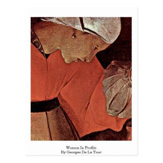 Women In Profile By Georges De La Tour Post Cards