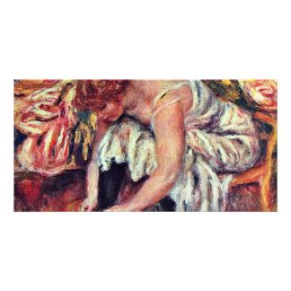 Women In Schuhbinden By Pierre-Auguste Renoir Bes Photo Greeting Card
