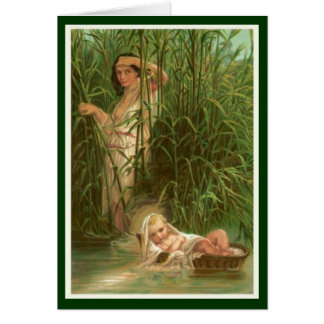 Women In The Bible - Miriam & Her Brother Moses Card
