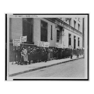 Women in the workplace march poster
