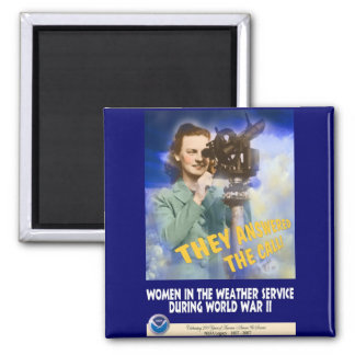 Women Joining the Weather Service WWII Magnets