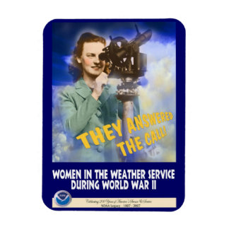 Women Joining the Weather Service WWII Flexible Magnets