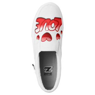 Women love Custom Zipz Slip On Shoes Printed Shoes