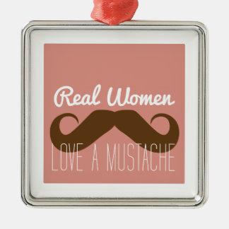 Women Love Mustache Christmas Tree Ornaments