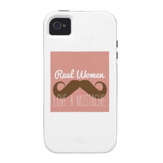 Women Love Mustache Vibe iPhone 4 Cover