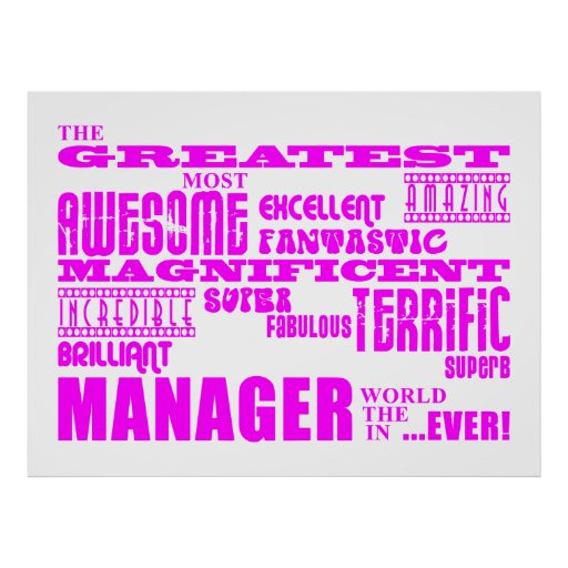 Women Managers & Bosses : Greatest Manager Posters