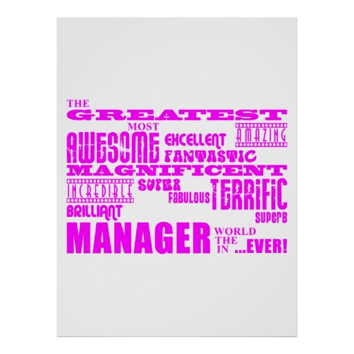 Women Managers & Bosses : Greatest Manager Print