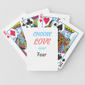 WOMEN MARCH CHOOSE LOVE OVER FEAR BICYCLE PLAYING CARDS