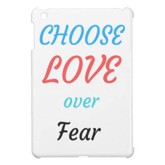 WOMEN MARCH CHOOSE LOVE OVER FEAR COVER FOR THE iPad MINI