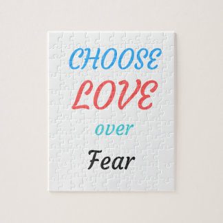 WOMEN MARCH CHOOSE LOVE OVER FEAR JIGSAW PUZZLE