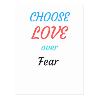 WOMEN MARCH CHOOSE LOVE OVER FEAR POSTCARD
