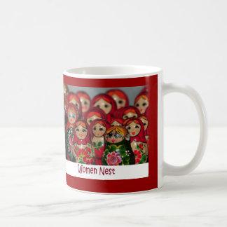 Women Nest, Russian Nesting Dolls Coffee Mug