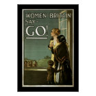 Women of Britain Say GO! (border) Poster