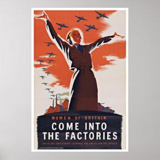 Women of Britain - Vintage Patriotism Print