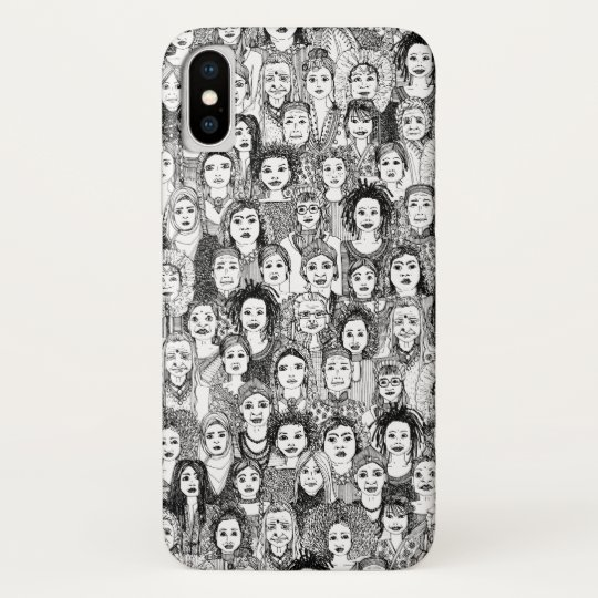 women of the world black white iPhone x case