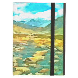 Women on a tocky mountain stream case for iPad air