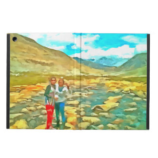 Women on a tocky mountain stream cover for iPad air