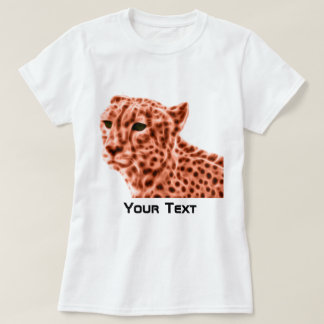 Women orange cheetah T-Shirt