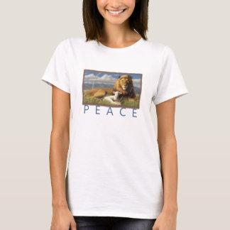 women Peace Lamb and Lion t shirt