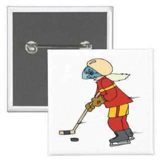 Women Play Hockey Too Button
