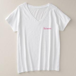 women plus size V-Neck T-Shirt