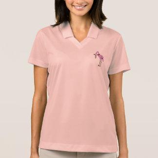 """Women Polo Shirt pink """"flamingo """""""