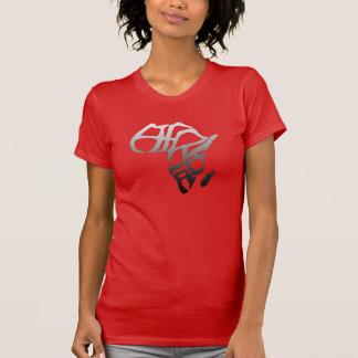 Women print designed Africa logo Tee-shirt