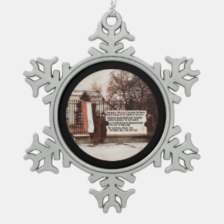 Women Protest at White House Pewter Snowflake Decoration