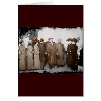 Women Registering to Vote Greeting Card