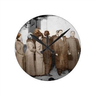 Women Registering to Vote Wall Clocks