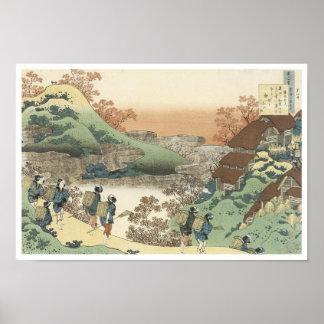 Women Returning Home at Sunset, Hokusai, 1835 Poster