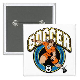 Women s Soccer Logo Button