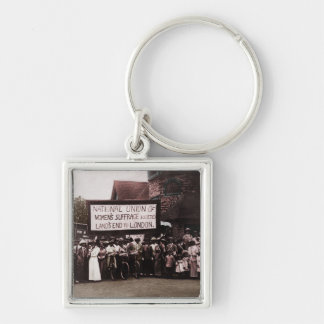 Women s Suffrage Group with Banner Keychain